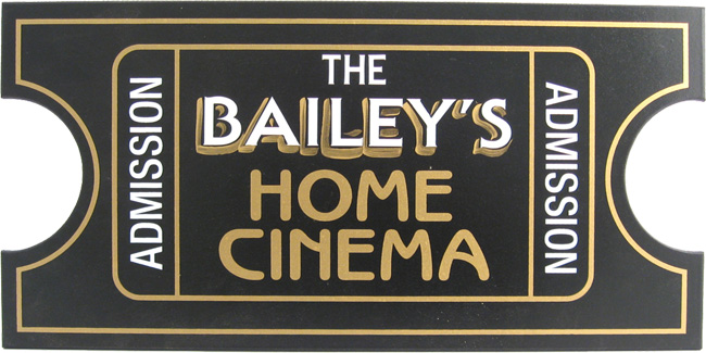 Custom Home Theater Plaque