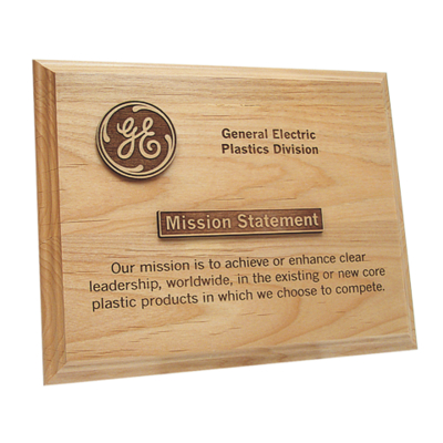 Maple Wood Plaque Retirement Gift