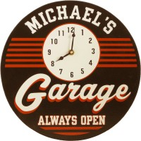 Garage Clock Personalized