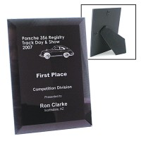 Glass Bevel Laser Engraved Plaque 5x7 | Commemorative Awards