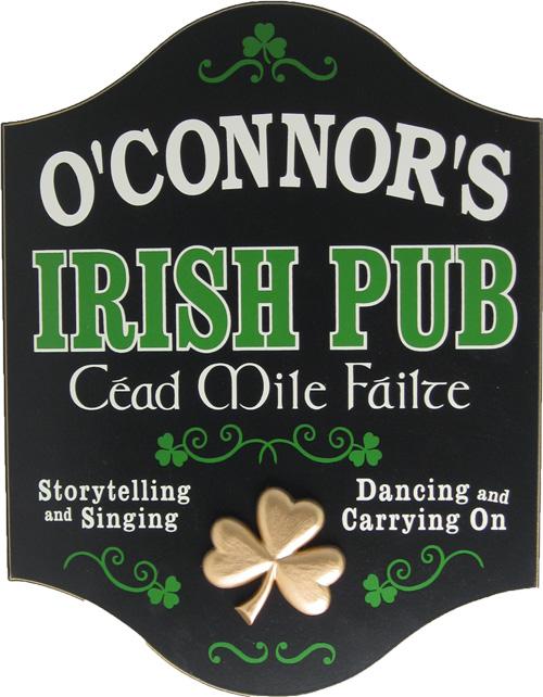Custom Irish Pub Sign Gift Idea