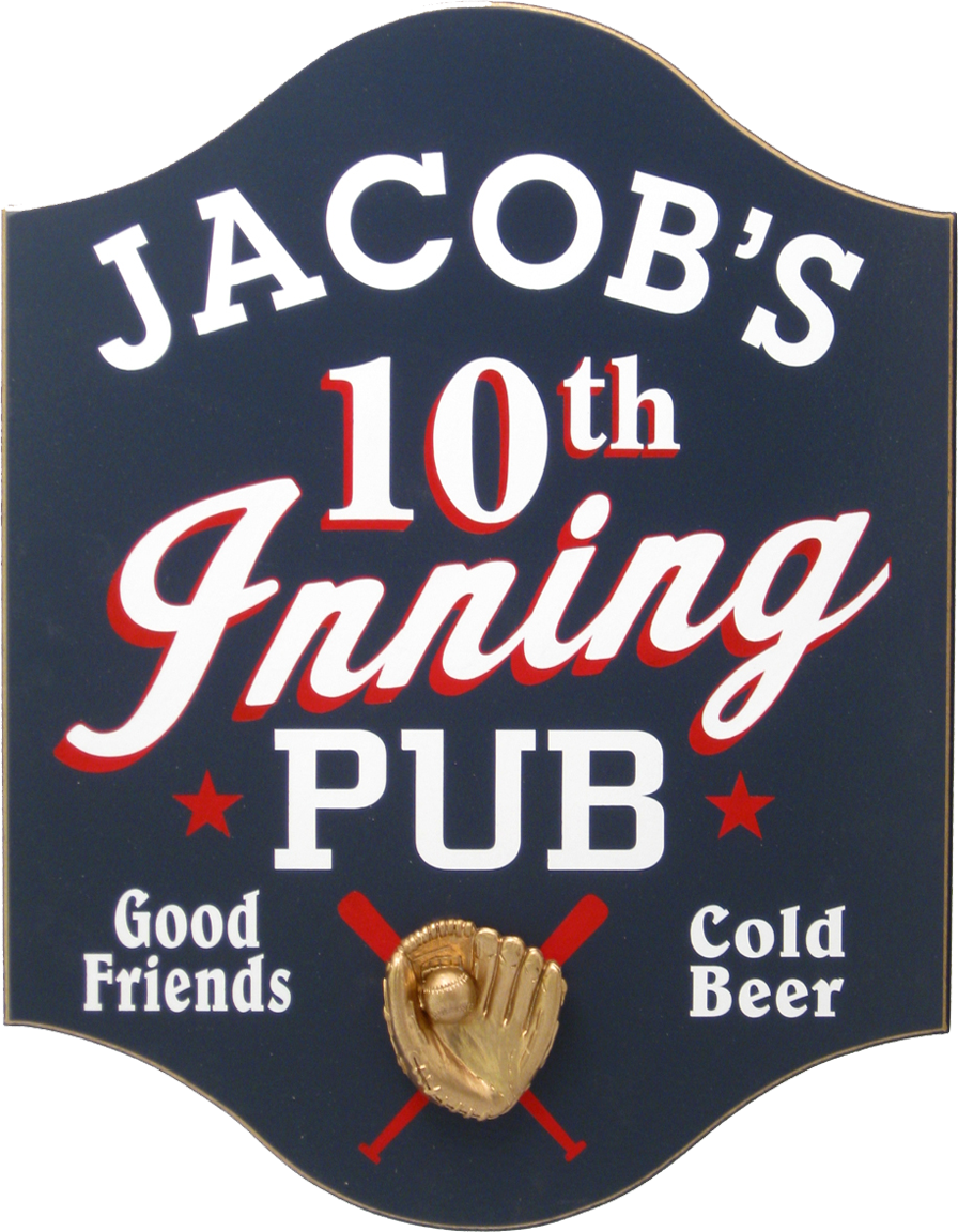 Personalized Baseball Pub Plaque