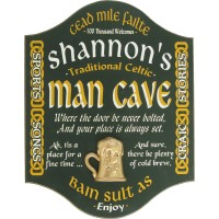 Irish Man Cave Sign Personalized