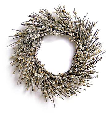 Organic floral wreath