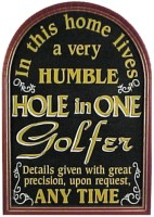 Hole-In-One Golfer Plaque