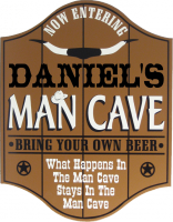 Man Cave Saloon Plaque