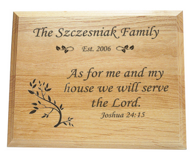 Joshua 24:15 Plaque Personalized