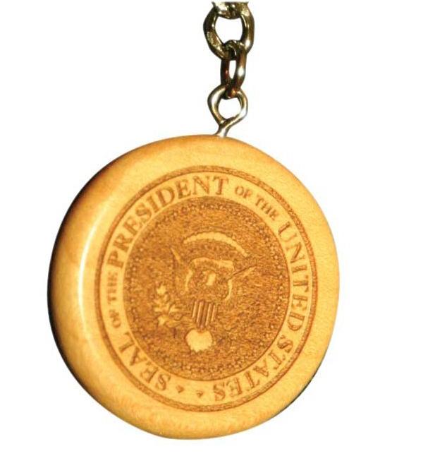 Engraved Round Wooden Keychain