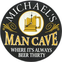 Personalized Clock Man Cave Wall Decor