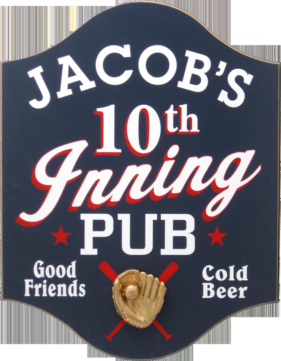 Personalized Baseball Pub Plaque